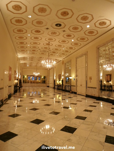 Luxurious lobby at the Mayflower Hotel in Washington, D.C.