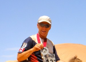 Len Stanmore completes the Gobi Desert Race in the 4 Desert Series