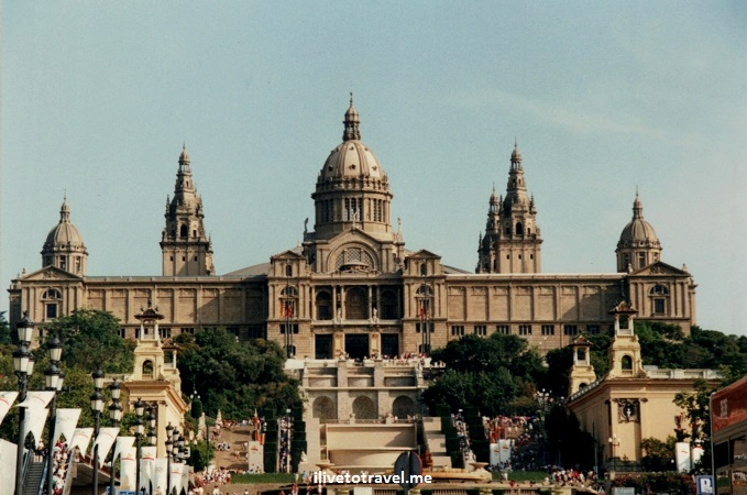 Montjuic, castle, Barcelona, Spain, Olympics, 1992 Olympic Games, architecture, Canon EOS Rebel, travel, photo