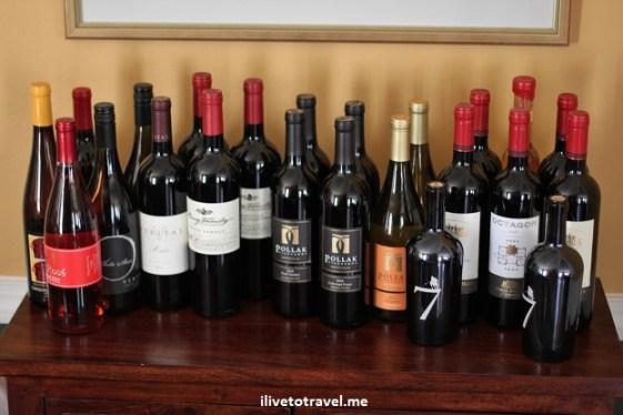 WIne from Virginia's wineries: Pollock, Cardinal Point, Barboursville, King, Veritas
