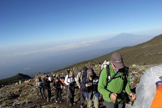 Great view of Mt. Meru, close to Mt. Kilimanjaro in Tanzania