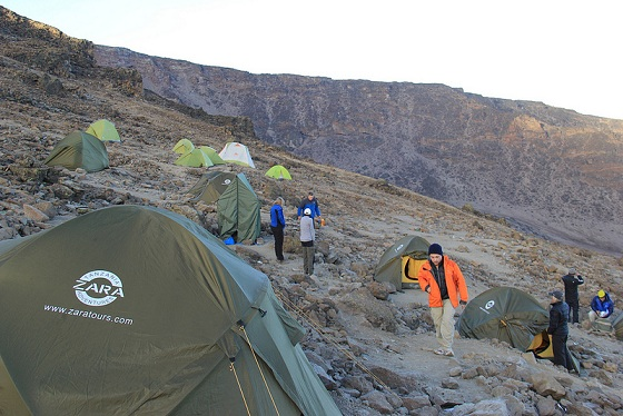 Barafu Camp in Mt. Kilimanjaro