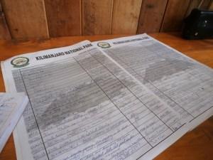 Register at camp in Kilimanjaro