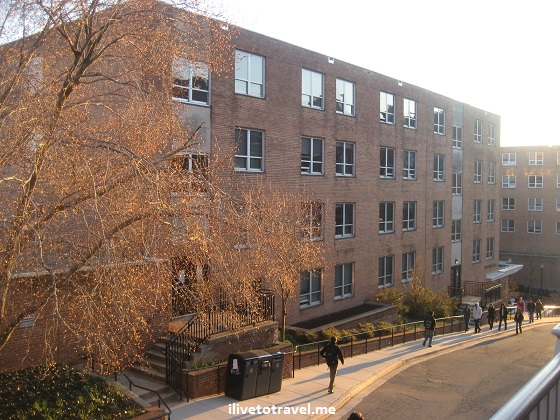 New South residence hall in Georgetown University