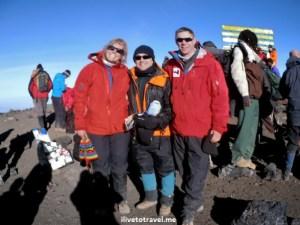 At Uhuru Peak