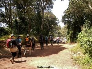 Exiting the Mweka Route trail to hiti Mweka Gate in Kilimanjaro