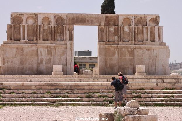 Ruins Umayyad Mosque palace The Citadel Amman, Jordan Canon EOS Rebel