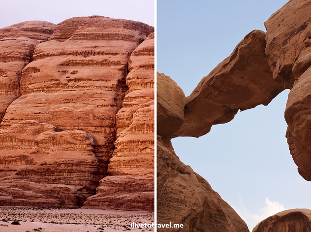 Amazing rock formations and colors in the Wadi Rum desert Jordan nature adventure outdoors Lawrence