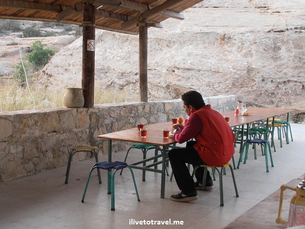 Dining area in Camp Rummana in Dana Biosphere Reserve, Jordan