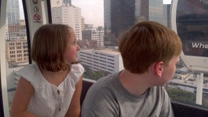 kids, downtown Atlanta, Skyview, Ferris wheel, view, vista