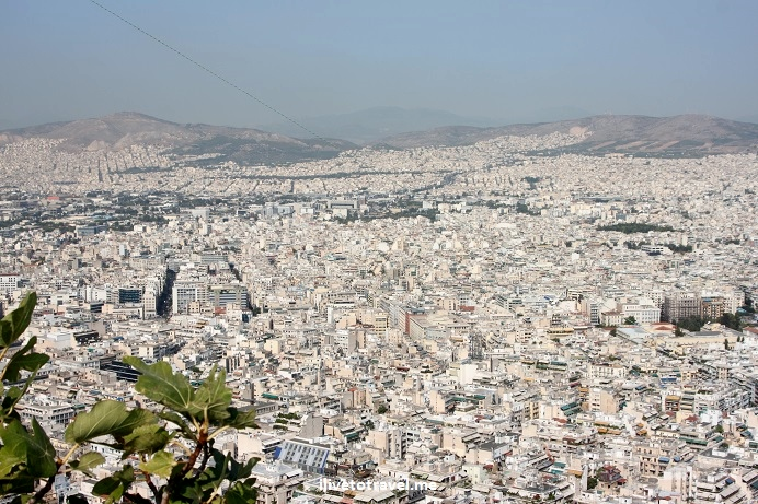 Athens, Greece, Lycabettus, Acropolis, Parthenon, vista, view, Canon EOS Rebel