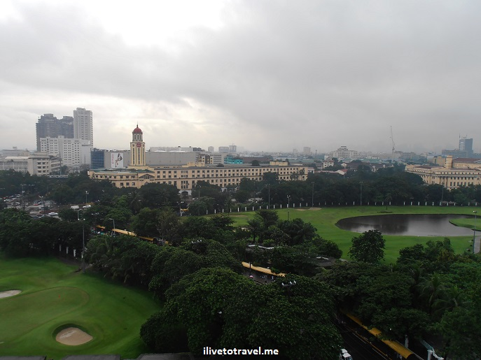Intramuros, Manila, city walls, Manila Town Hall, Philippines, golf course, clouds, sky, Olympus