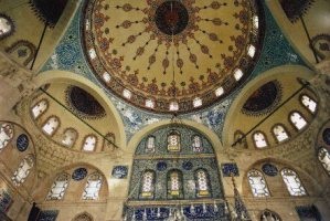 mosque, Istanbul, ceramic tule, interior, Turkey, art, architecture, photo, Canon EOS Rebel, blue