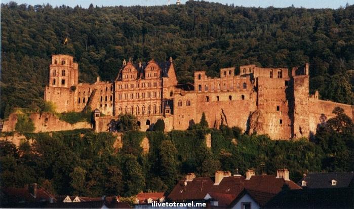 sunset, Heidelberg Castle, ruins, architecture, Heidelberg, Germany, architecture, travel, photo, Canon EOS Rebel