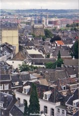 View of Maastricht's rooftops from the red bell tower of St. John's. Not quite Dubrovnik...