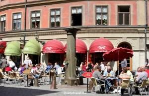 cafe, Stockholm, Sweden, summer, street scene, travel, photo, Canon EOS Rebel