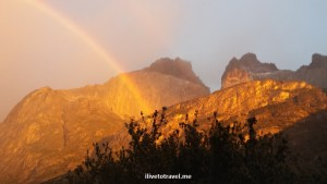 rainbow, Refugio Chileno, lodging, Torres del Paine, national park, Chile, Patagonia, nature, outdoors, photo, Samsung Galaxy