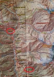 Nepal, Himalaya, route, Tok Tok, Lukla, map, trekking, Everest trek, adventure