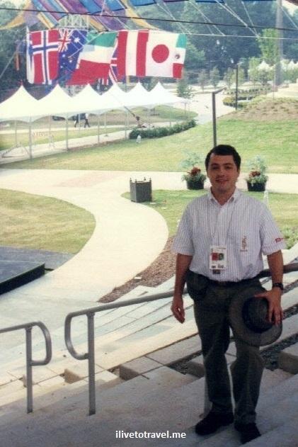 Atlanta, Olympics, 1996 Games, volunteer, Georgia Tech, photo, flags
