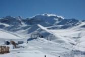 Chile, Andes, esqui, esquiar, nieve, cielo, azul, blanco
