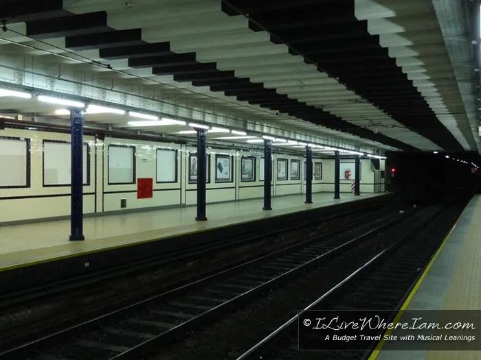 Linea A Subway Empty Station