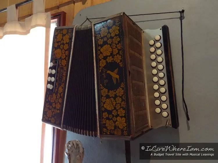 Diatonic Button Accordion in Museum in Castro