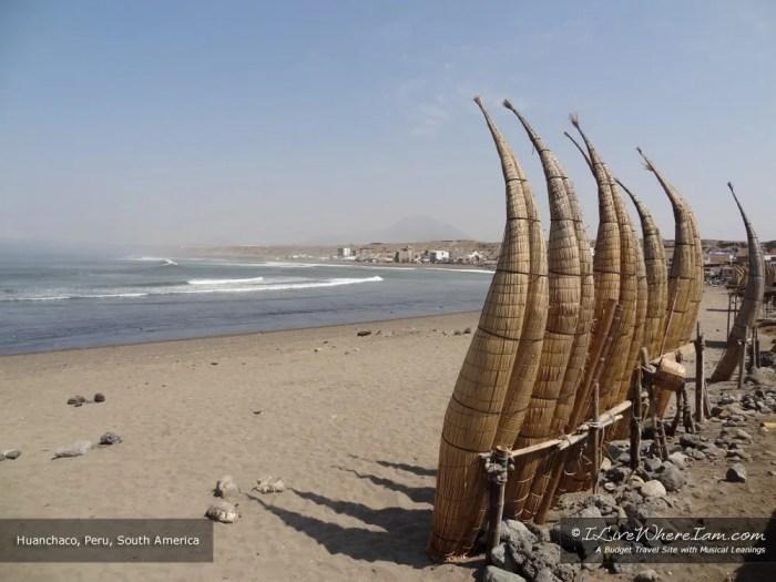 Caballitos de totora – reed fishing boats