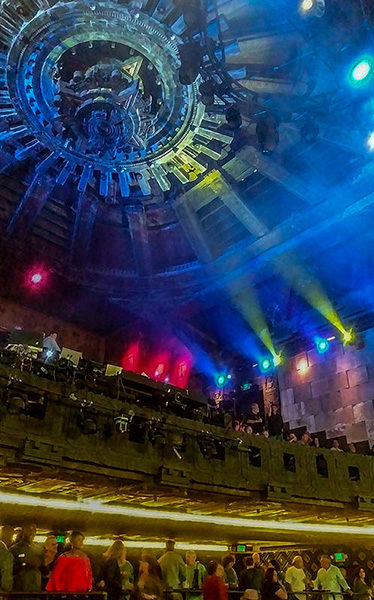 The Mayan Theater Chandelier in Downtown Los Angeles