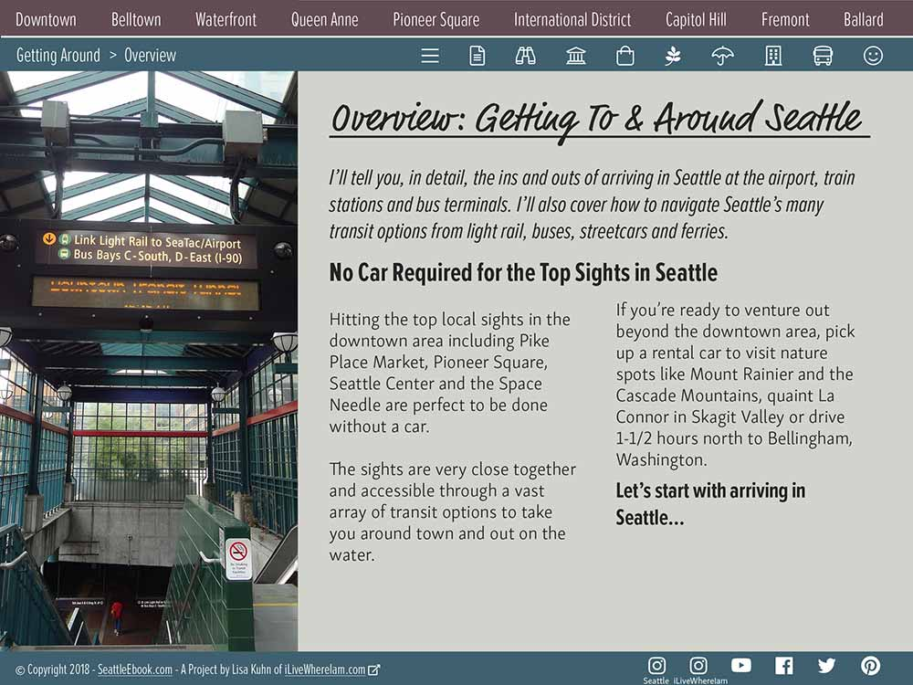 Getting Around Seattle - Overview