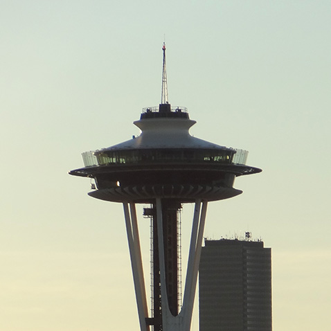 The Space Needle from Kerry Park in Seattle, Washington