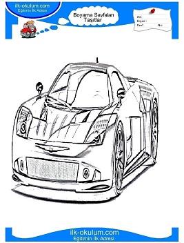 Araba Boyama Sayfas Araba Boyama Sayfalar Car Coloring 4 Modern