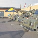 Military vehicles at Morrisons