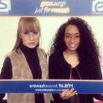 Local 'Voice' contestant Lia White interviewed at Erewash Sound radio station
