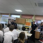 Royal Navy chef cooks at Kirk Hallam Community Academy