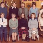 Staff at Chaucer Junior School 40 years ago…