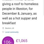 £1,000 reached for Homeless Shelter projectWe've hit our target amazing and THAN…