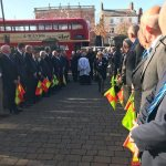 Guard of honour for legendary Ilkeston football referee Harry Hardy.Guard of hon…
