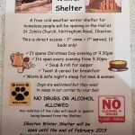 Ilkeston Winter Shelter poster.Exciting times its actually happening, if you see…