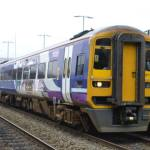 A Northern service train en route to Nottingham picks up at Ilkeston Station tod…
