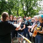 Voices in Victoria Park.The Rockabillies Choir perform at Victoria Park, Ilkesto…