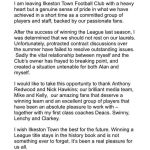 Shock news from Ilkeston Town FC.  Manager quits.STATEMENT FROM LEE FOWLER…