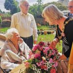 105 years old!Mayor of Erewash, Councillor Sue Beardsley, meets Long Eaton lady …