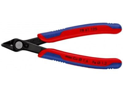 Die KNIPEX Electronic-Super-Knips® 78 61 125 ist eine Präzisionszangen für feinste Schneid arbeiten wie z. B. in Elektronik und Feinmechanik.