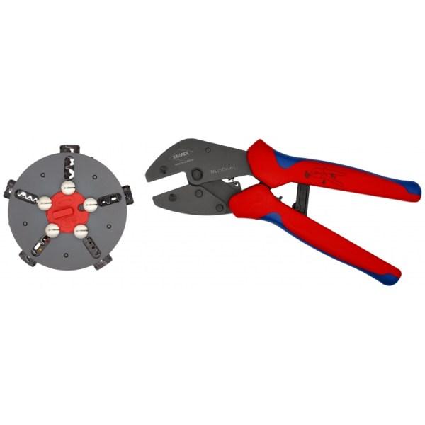 Mit der KNIPEX MultiCrimp Crimpzange 97 33 02 hast du nur ein Werkzeug für die gängigsten Crimp Anwendungen. Sie gewährleistet dir ein...