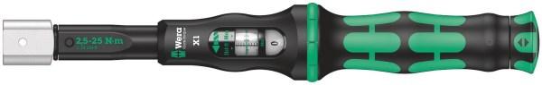 Der Wera Click-Torque X 1 Drehmomentschlüssel im unverkennbaren Wera Design. Des Weiteren hat er eine sehr robuste Ausführung bei hoher
