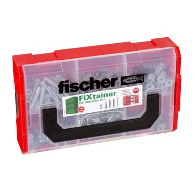 Die Hält-Alles-Box enthält neben dem fischer SX den Nylondübel UX R, den schnellen Gipskartondübel GK und den selbstbohrenden Gipskartondübel
