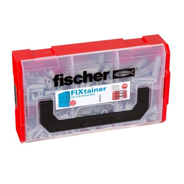 Die SX-Dübel-Box enthält 210 fischer SX-Dübel – geeignet für Befestigungen in Beton, Voll- und Lochbaustoffen (210 Teile). Die FixTainer...