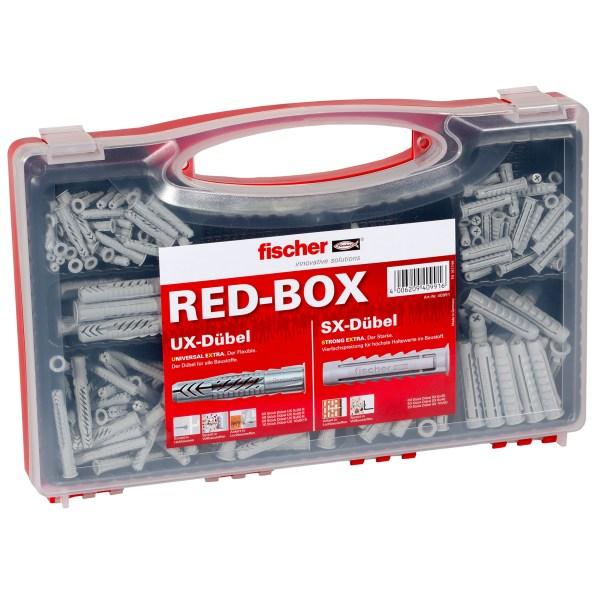 Die fischer UX/SX Sortimentsbox enthält vorsortiert 60 Spreizdübel SX 6 x 30, 50 Spreizdübel SX 8 x 40, 20 Spreizdübel SX 10 x 50 sowie 60...
