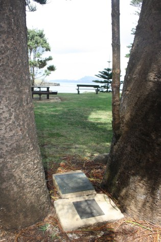 Plaques for early Cemetery at Emily Bay