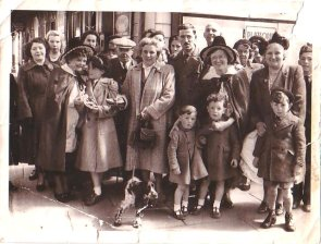 Last Farewells, Caernarfon railway station, May 1952. Einer front row, 3rd from left.